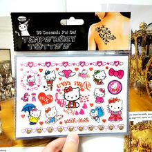 Pink Hello Kitty Cats Child Temporary Tattoo Body Art Flash Tattoo Stickers 17*10cm Waterproof Henna Ta Car Styling Wall Sticker