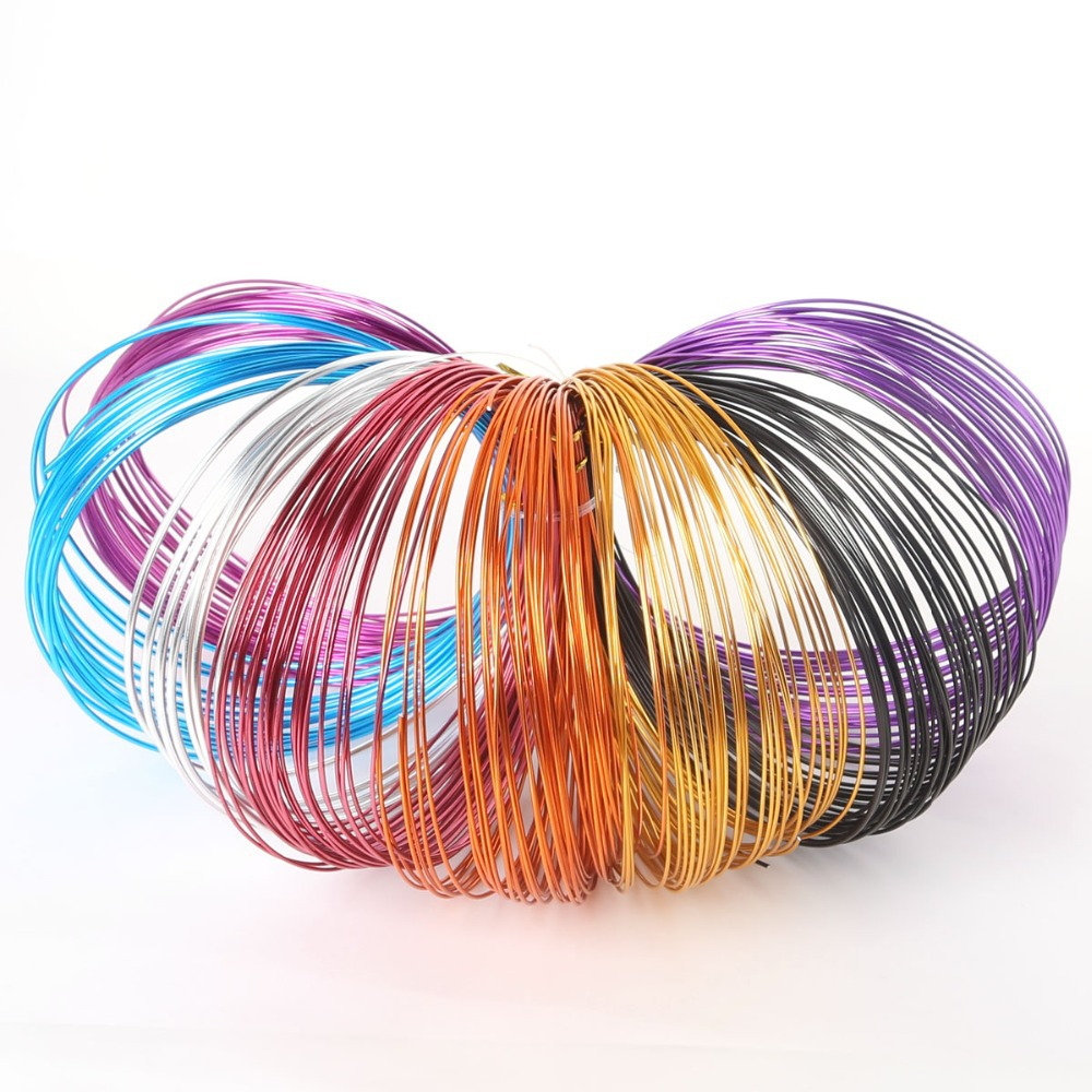 New Arrivals 1.0mm 18 gauge multi colors aluminum wire coil 10m/roll soft DIY jewelry craft versatile painted memory wire(China (Mainland))