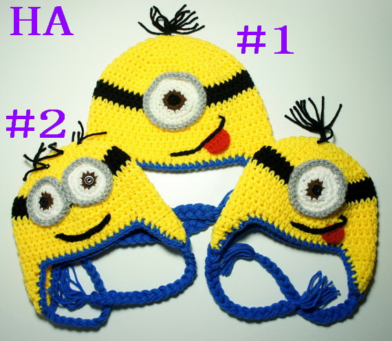 Free shipping,Despicable me minion beanie handmade crochet baby hat Great Photo Prop,childrens beanie cap 20pcs<br><br>Aliexpress