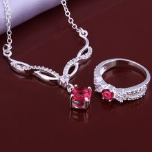 Free Shipping Fashion jewellery charms silver-plated jewelry sets red month R+N  floating charms(China (Mainland))