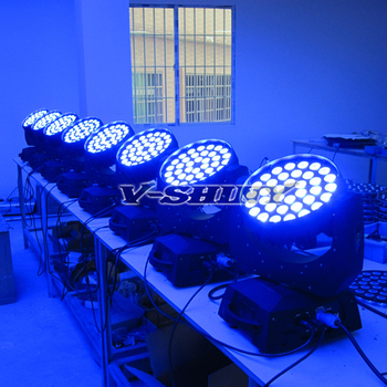 Free Shipping 36*10W RGBW 4 in 1 quad color led moving head light High Quality LED Stage Light