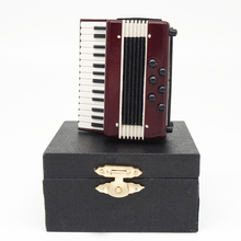 New Old-Fashioned  Accordion Model Miniature Musical Instrument  for Re-ment  Dollhouse Accessories (China (Mainland))