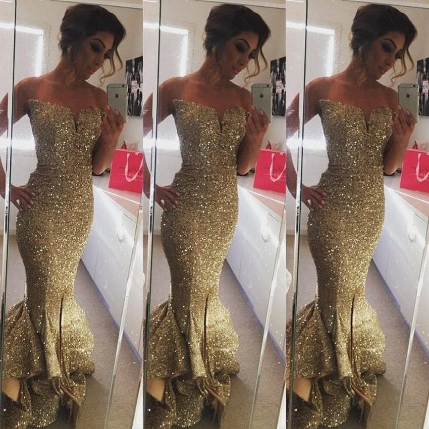 Robe De Soiree Gorgeous Long Mermaid Evening Dress 2016