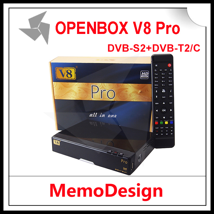 Openbox V8 PRO COMBO Satellite TV Receiver HD DVB-S2+DVB-C/T2 Twins Tuner TV Box Support CCcamd NEWcamd Biss Key Youtube Youporn(China (Mainland))