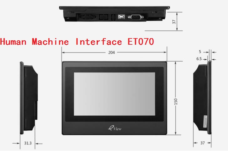 ET070 Kinco Eview 7inch color HMI touch screen(China (Mainland))