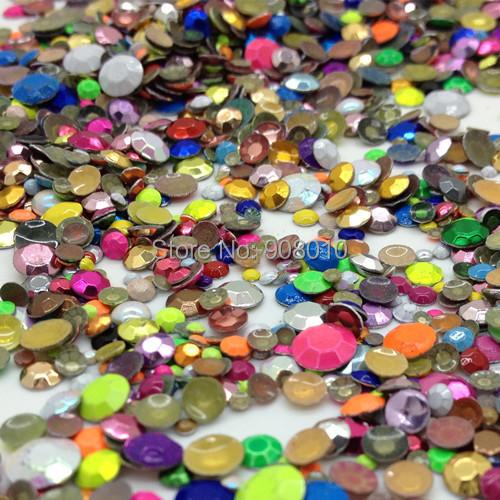 2800pcs Mix sizes Mix Colors Shapes Iron-on hotfix Metalic rhinestuds heat transfer For T shirt,Garment Use(China (Mainland))