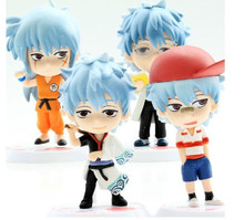 4pcs/Set Japan Anime Gintama Sakata Silver Soul PVC Action Figure Model Doll Brinquedos Kids Toys Anime FIgure KA0147