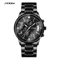 2016 SINOBI Germany Sports Diver s Watches Womens Chronograph Clock Mens Stainless Steel 10Bar Watch Geneva