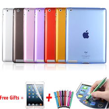 Soft TPU Cover for Apple iPad 2 Case High Quality Silicon Case for ipad 3 Colourful Slim Soft Cover for iPad 4 Case 9.7 inch(China (Mainland))