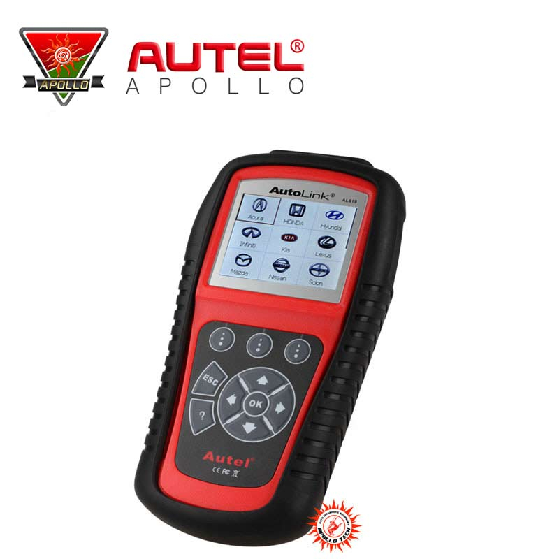 [Autel Authorized Distributor] 2016 Top-rated Autel AutoLink AL619 OBDII&CAN ABS & SRS Scan Tool Original Autel AL619 In Stock(China (Mainland))