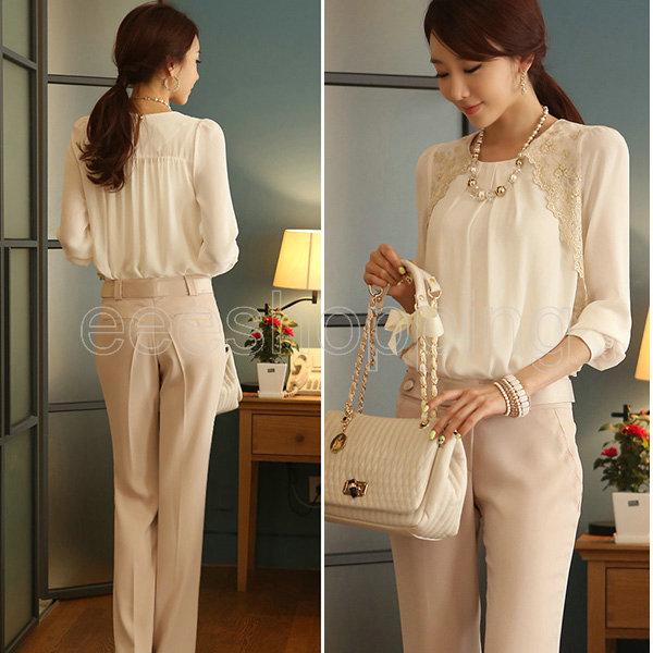 Sheer Long Sleeve Blouse White Blouse With Sheer Long