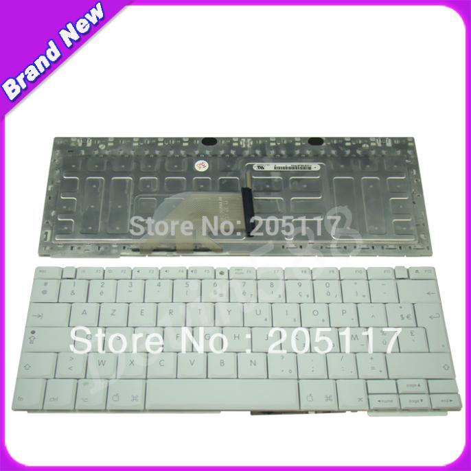 """Brand New FOR Apple 12"""" iBook G4 Series French Keyboard FR Clavier White(China (Mainland))"""