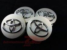Free Shipping 4pcs/set Silver 62MM  Wheel Hub Caps Wheel Center Caps Covers Emblem For Toyota (China (Mainland))