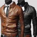winter male Men PU Motorcycle Leather jackets coats Men leather coat motorcycle jacket collar British version
