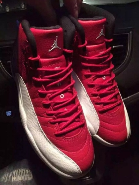 New arrival original high quality authentic retro Jordan 12 shoes red and white men cheap to sale US size 8-13 Free Shipping(China (Mainland))