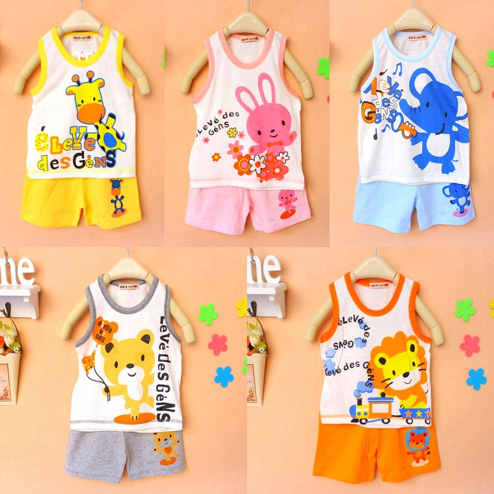 2015 new Children clothing set, baby clothing set T-shirt+pants undershirt Shorts,kids pajama set for summer,baby clothing set<br><br>Aliexpress