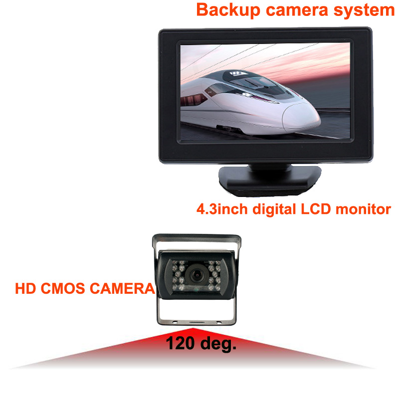 "RV-4302-6 quality first reversing camera kit with 4.3"" digital LCD monitor, waterproof truck camera for various truck/vans/etc.(China (Mainland))"
