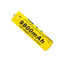 1 PCS 18650 battery 3.7V 9800mAh rechargeable li-ion battery for Led flashlight batery litio battery 18650(China (Mainland))