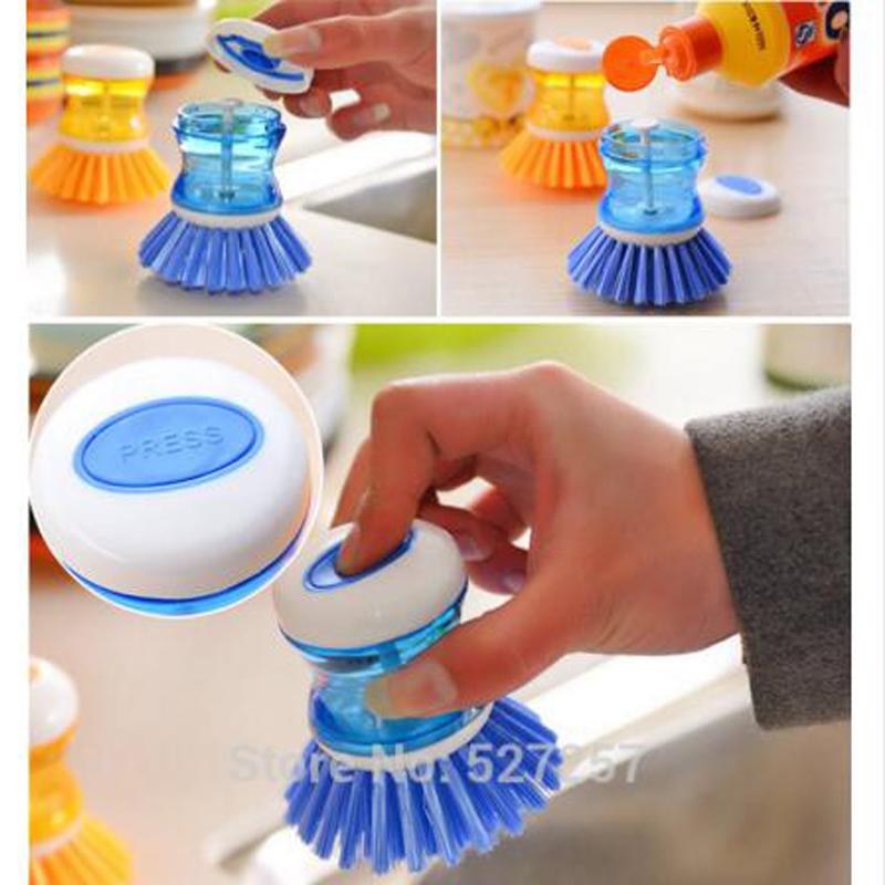 Cleaning Brush Easy Dish Washing Up Kitchen Brushes Scrubbing Liquid Detergent(China (Mainland))
