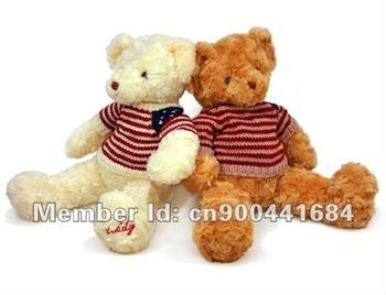 "Wholesale 22"" Plush Stuffed Teddy Bear Toy In Nice Sweater Plush bear Free Shipping"