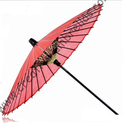 Wooden&bamboo dancing umbrella craft props antique old classic advertising gift wedding oil paper outdoor sunshade red parasol(China (Mainland))