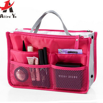 Attro-Yo! women bags Nylon Multifunction Makeup Bag Organizer Women Cosmetic Cases Outdoor Travel Bag toiletry kits LM2136
