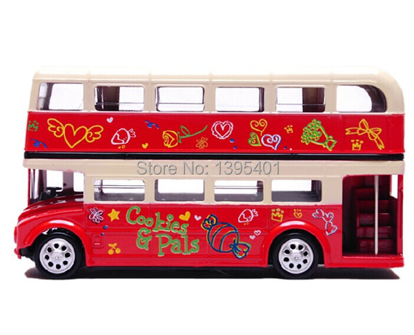 Flashing London Bus Double-deck Sightseeing Bus ,Musical Pull Back,Scale Diecast Bus Model Car Toys(China (Mainland))
