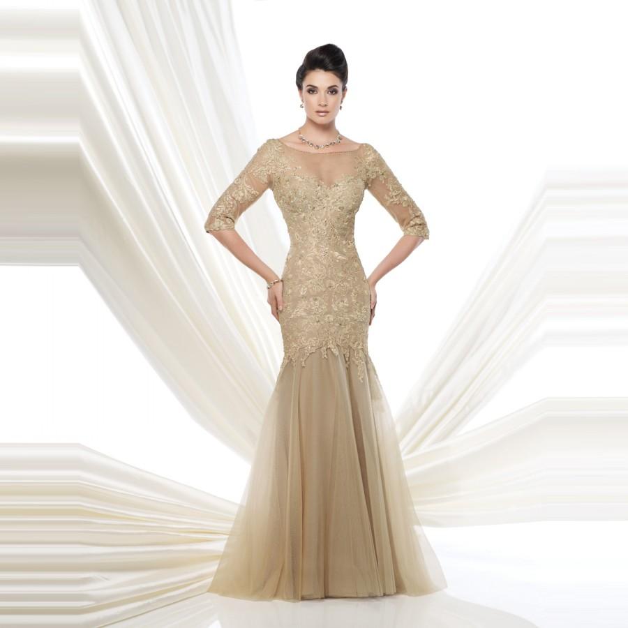 Lace mother of the bride dresses 2015 elegant 1 2 sleeve for Formal wedding dresses for mother of the bride