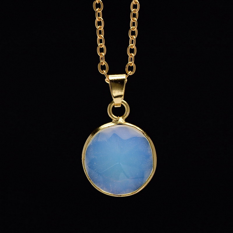 gold plated opal pendant necklaces for