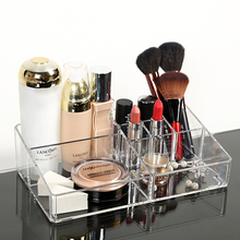 Woman Acrylic Cosmetic Organizer Clear Makeup Jewelry Cosmetic Storage Display Box Acrylic Case Stand Rack Holder Organizer Box(China (Mainland))