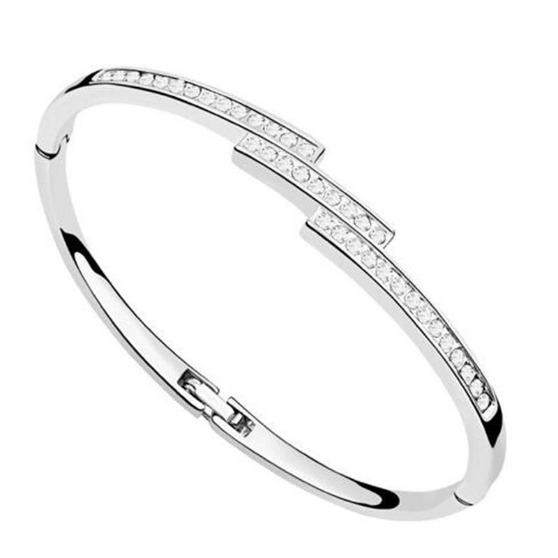 Austria Crystal Bracelets Bangles Women Wedding Engagement Vintage Jewelry Display 5 Colors - MJSZ store Min. Order $ 10 USD