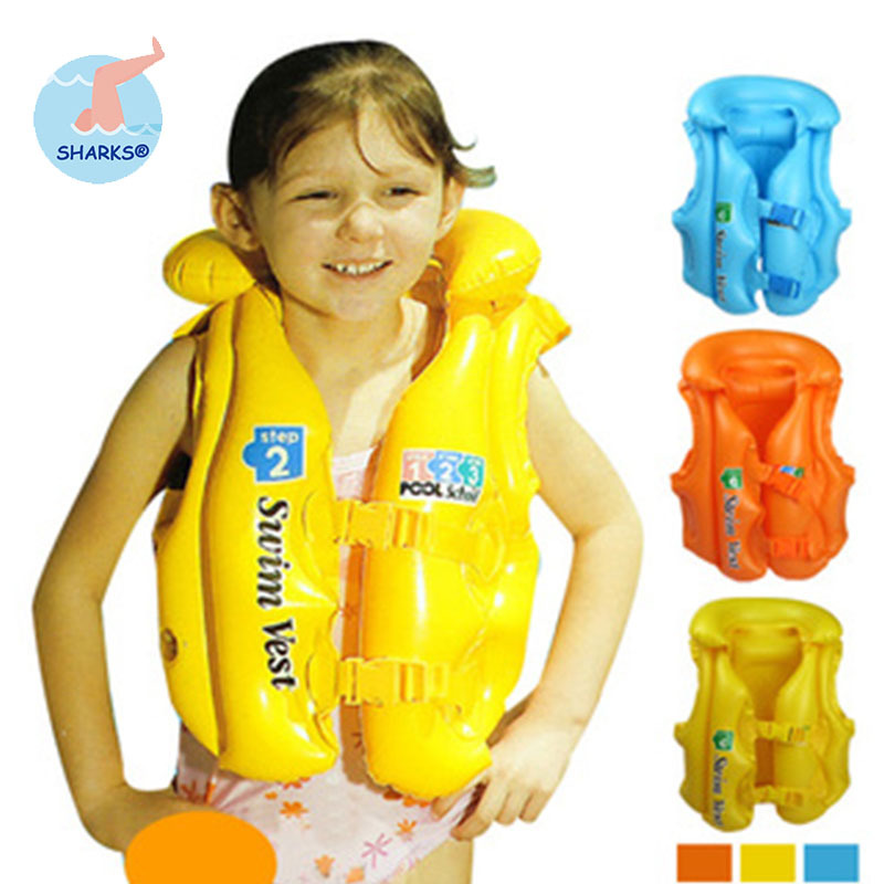 3 Size Adjustable Children Kids Babys Inflatable Life Vest Swiwmsuit Child Swimming Safety Vest for Boys and Girls Drifting(China (Mainland))