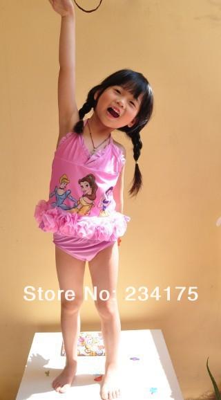 one piece cute lace swim suit beautycostume kitty baby girl beachwear children princess cheap free shipping yd166  5pcs/lot<br><br>Aliexpress