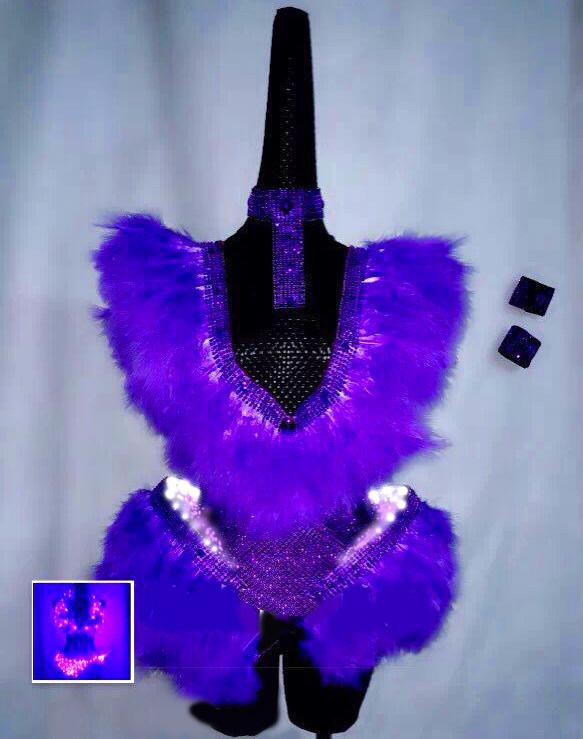 Purple led costume