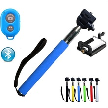 Universal Selfie Stick Bluetooth Extendable Stick Handheld Monopod +Wireless Remote +Holder Self Stick For Phone Camera 5 Color