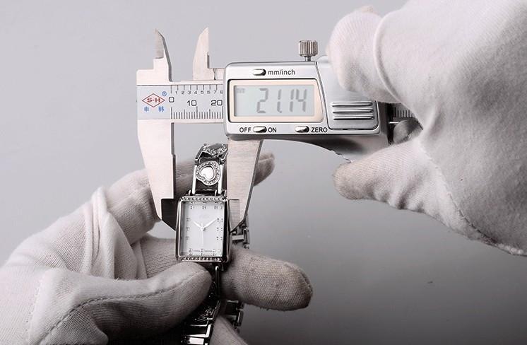 Julius Lady Woman Wrist Watch Quartz Hours Best Fashion Dress Retro Color Korea Bracelet Band Rectangle Shell JA-654