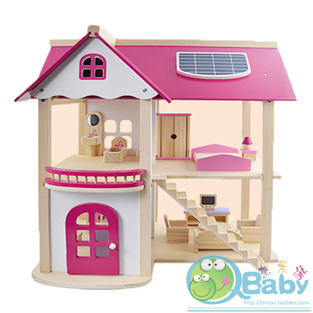 Child wool diy doll handmade assembling model toy house set toys furniture toys dream housing toys