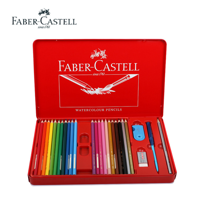 Colored pencil Set faber castell pencil oily colored drawing pencil In Metal Box