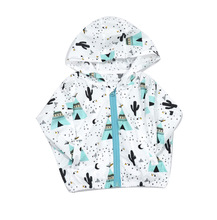 2016 Novelty Baby Boys Girls Character Full sleeve Outwear Cotton Kids for baby Boys&Girls Coats Summer Fruits&Cactus retail(China (Mainland))