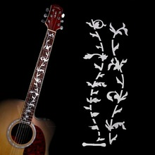Electric Acoustic Guitar Tree of Life Sticker White Pearl Neck Fret board Fret DIY Decoration Sticker Decal Guitar Sticker(China (Mainland))