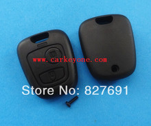Guaranteed 100 replace case for Peugeot 206 2 button remote key shell without logo and blade