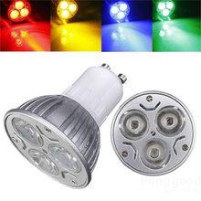 Buy LED Light Bulb GU10 3W 3 LED Spot Light Bulb High Power Aluminum Alloy Spotlight Lamp Bulb Red/Blue/Yellow/Green Lighting AC220V for $2.49 in AliExpress store