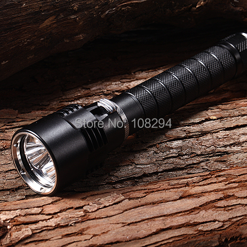 78-3XL2 Rechargeable 1-Mode 3xCree XM-L2 U2 Waterproof Diving Flashlights(2x18650,3800LM,Black) - LED Finder store