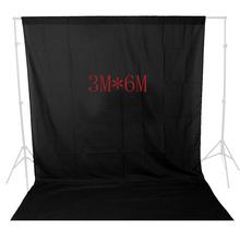 10FT X 19FT Black screen Muslin background cloth backdrop Photo lighting studio Cotton Chromakey Chromakey