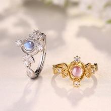Натуральный Лунный Камень Старинные Кольца для Женщин Стерлингового Серебра 925 Fine Jewelry Подарок(China (Mainland))