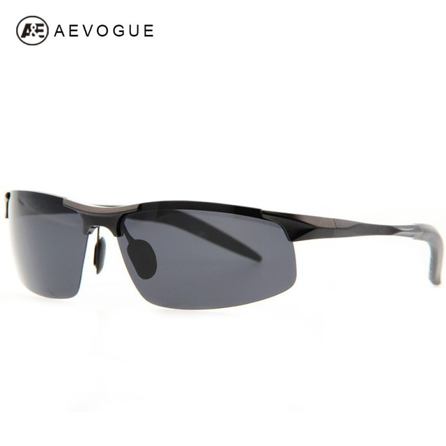Aevouge нет чехол Al - алюминиевые-mg сплава сверхлегкие спортивные металлический каркас солнцезащитные очки мужчины марка поляризовыванная солнцезащитные очки UV400 AE0112