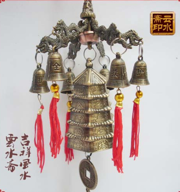 China light tower wind bell tower with six bells Meshach Wangcai angle most powerful bells bronze factory outlets(China (Mainland))