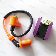 GY6 50cc 125cc 150cc Scooter Motorcycle Go kart ATV Racing CDI Box+Ignition Coil