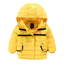 High Quality winter kids down jacket for boys girls Hooded Down Parkas cotton Fashion zipper children outerwear Coat clothing