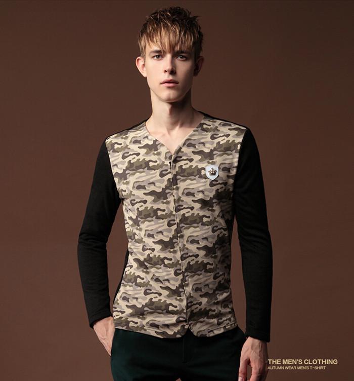 Мужская футболка T-shirts v/: m 3XL w14121507-22 мужская футболка dermay slim fit t v 6 homme m 3xl